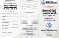 FDP on Design of Steel Structure using Limit State Method organized by Department of Civil Engineering (20th - 22nd January 2017)